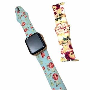 New floral silicone band for Apple Watch 5…